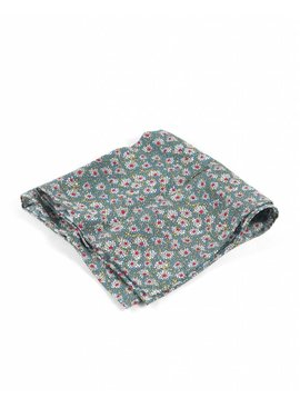 Toffster Pocket Square Grey Floral