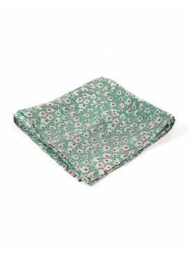 Toffster Pocket Square Green Floral