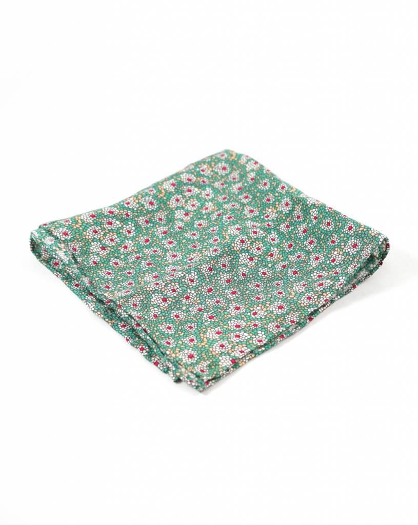 Toffster Einstecktuch | Baumwolle | Grün | Floral