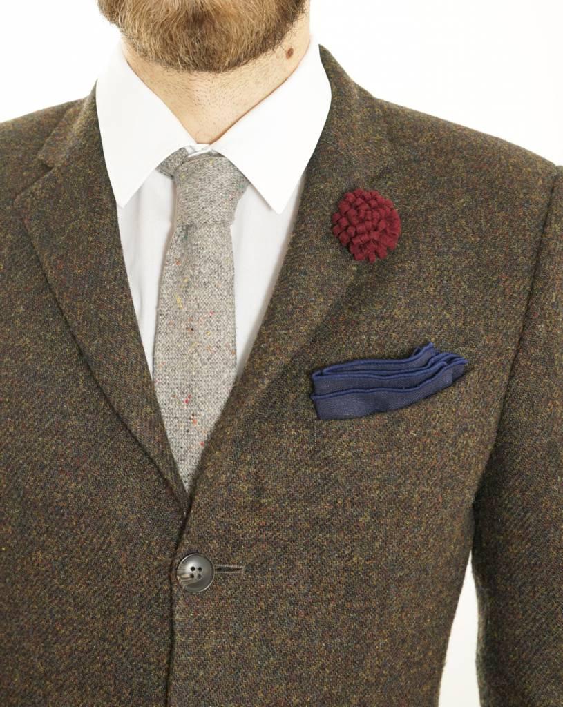 Toffster Grey Slim Tie Wool