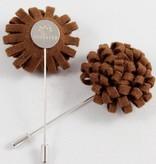 Toffster Boutonniere | Wool | Dark Brown