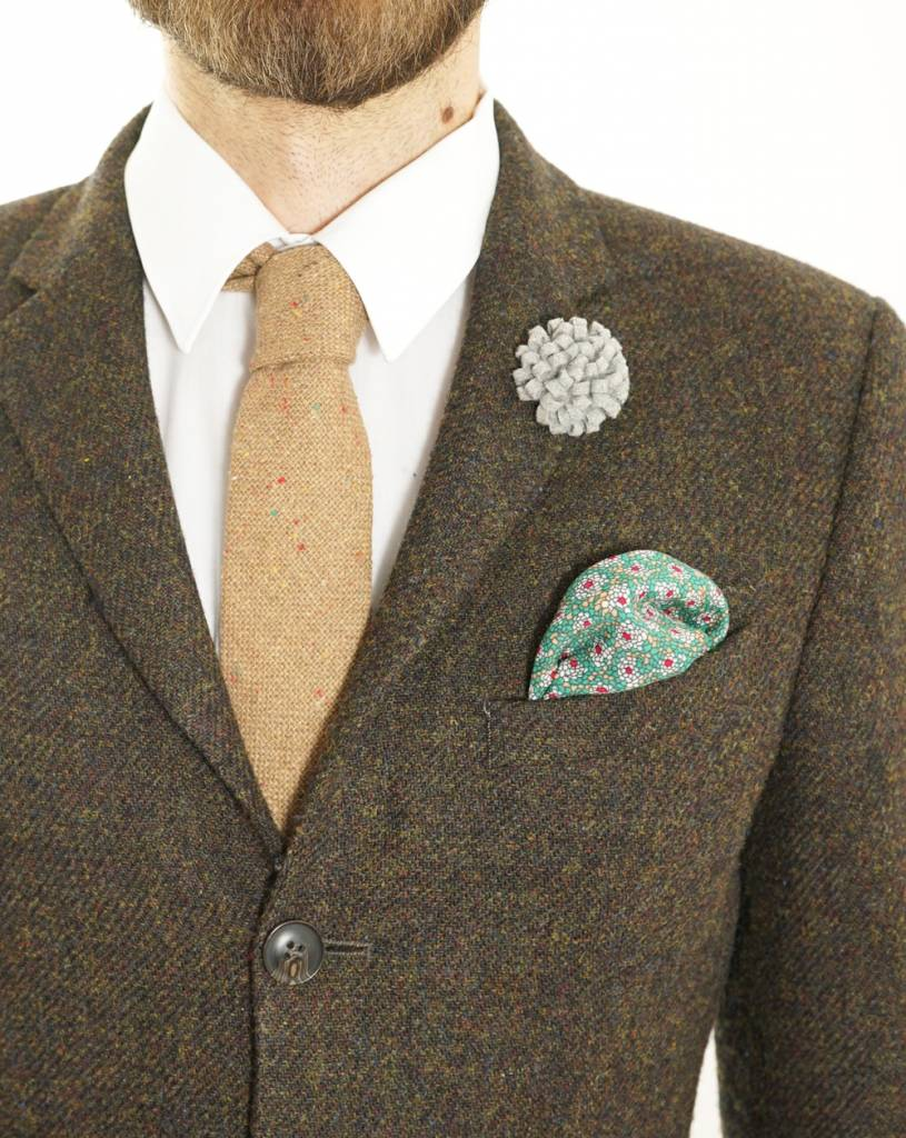 Toffster Pocket Square | Cotton | Green