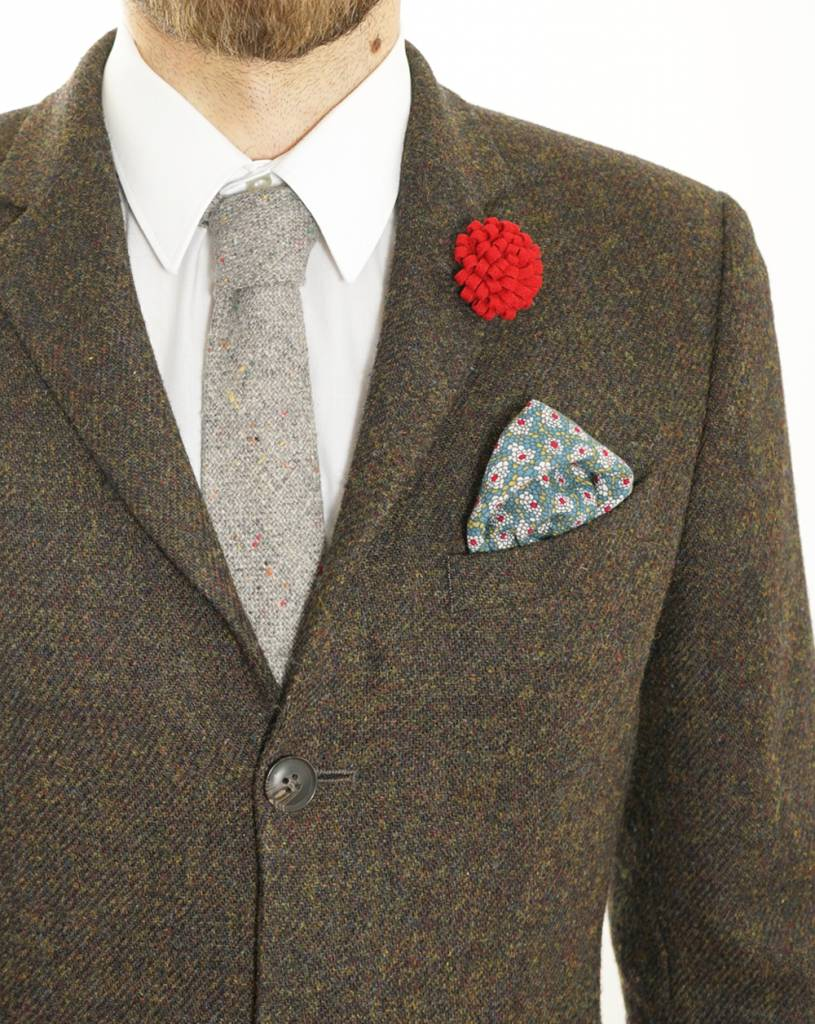 Toffster Pocket Square | Cotton | Grey