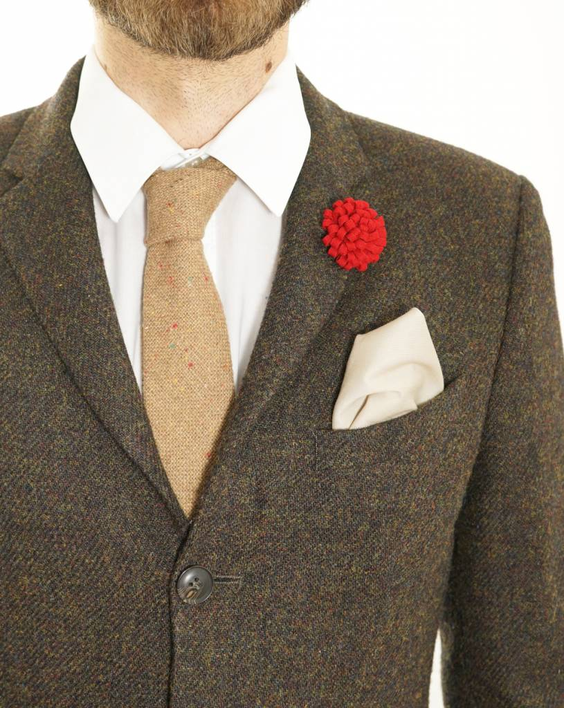 Toffster Pocket Square Nude
