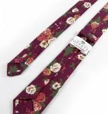 Toffster Krawatte | Baumwolle | Bordeaux | Floral