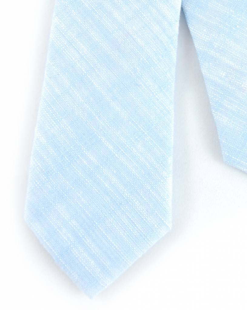 Toffster Linen tie light blue