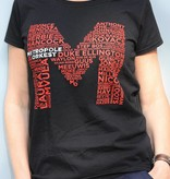 T-shirt Dames Zwart