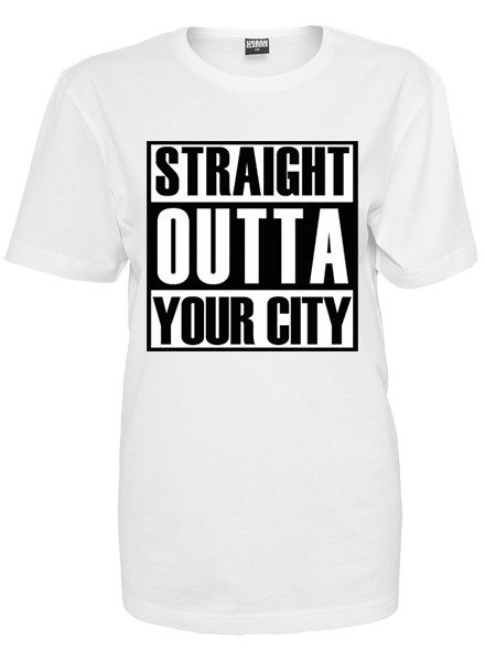 DOPE ON COTTON CUSTOM STRAIGHT OUTTA YOUR CITY T-SHIRT
