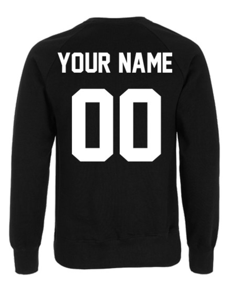 DOPE ON COTTON CUSTOM TEAM NUMBER SWEATER
