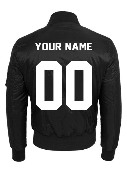 DOPE ON COTTON CUSTOM TEAM NUMBER BOMBER MEN