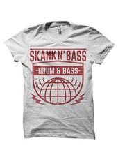 DOPE ON COTTON Skank N Bass Merchandise T-shirt - SNB Globe