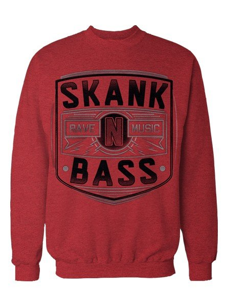 DOPE ON COTTON Skank N Bass Merchandise Crewneck - SNB Rave Music