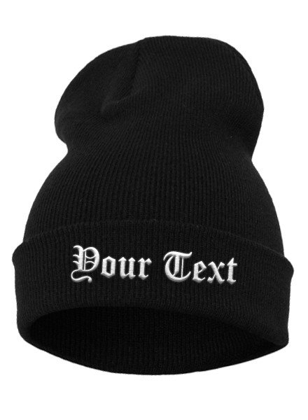 DOPE ON COTTON CUSTOM BEANIES: OLD ENGLISH