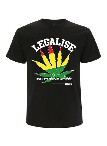 DOPE ON COTTON DOC  Legalise Organic T-shirt