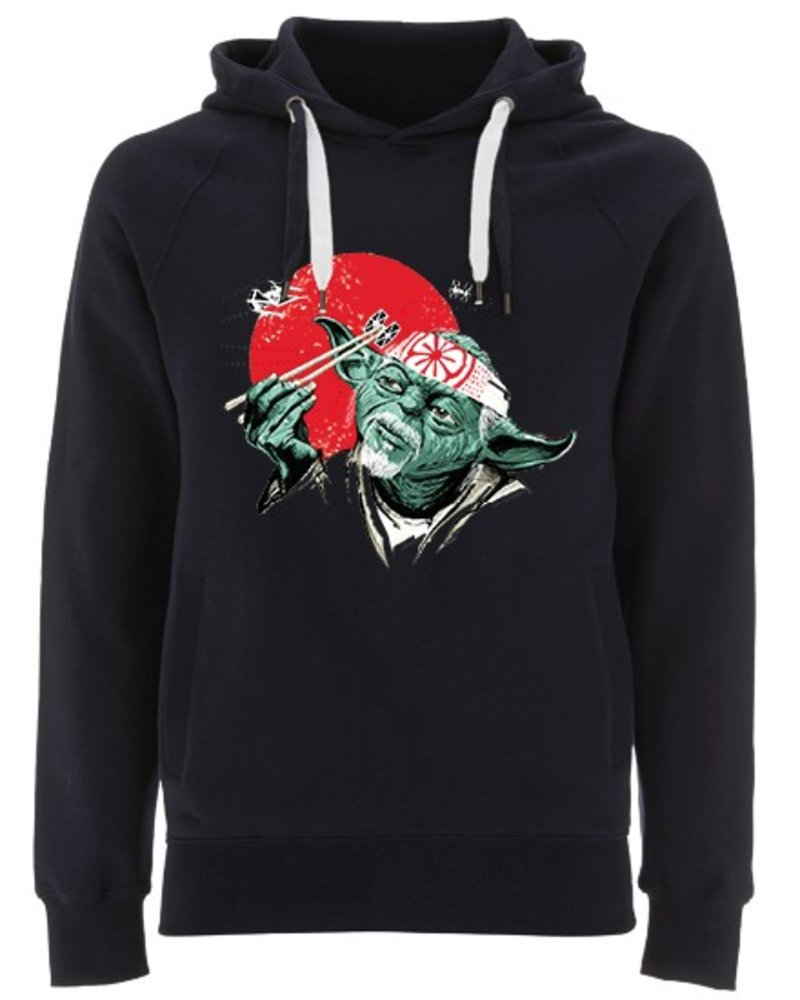 EARTH POSITIVE by Continental Clothing Hooded sweater  - Yoda Karate by DOC