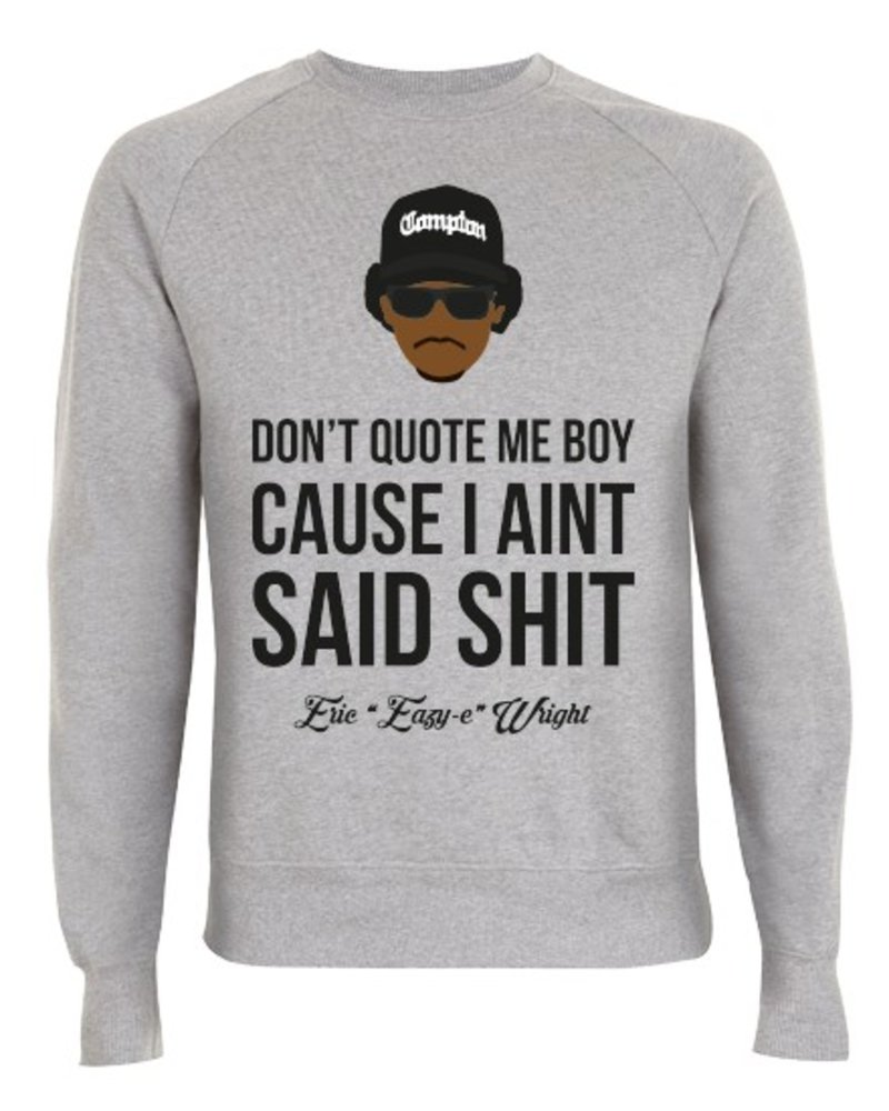 DOPE ON COTTON DOC Flat design Easy E Dont Quote Organic Crewneck Sweater