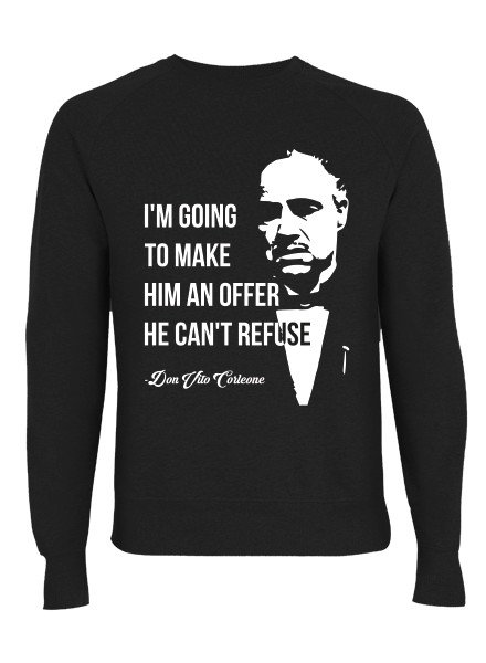 DOPE ON COTTON DOC Flat design Godfather Organic Crewneck Sweater