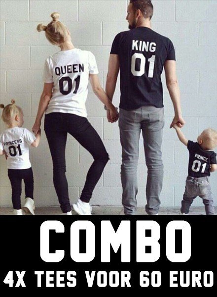 DOPE ON COTTON Combo Family T-shirts