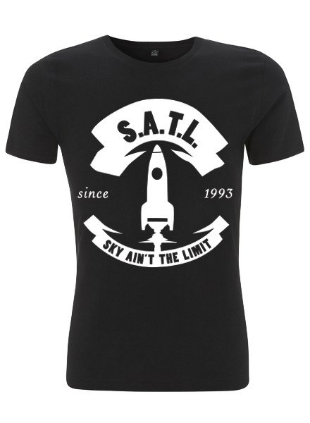 SATL (Sky Ain't The Limit) SATL SLIMFIT ORGANIC T BIG ROCKET BLACK