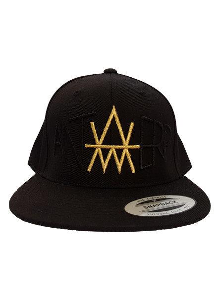 AW ANTWERP Premium Snapback AW BlackonBlack Gold edition