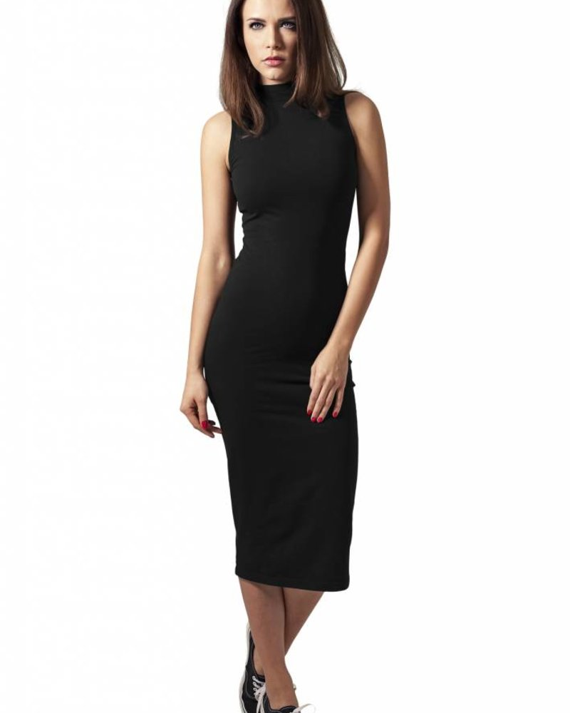 URBAN CLASSICS Ladies Stretch Jersey Turtleneck Dress