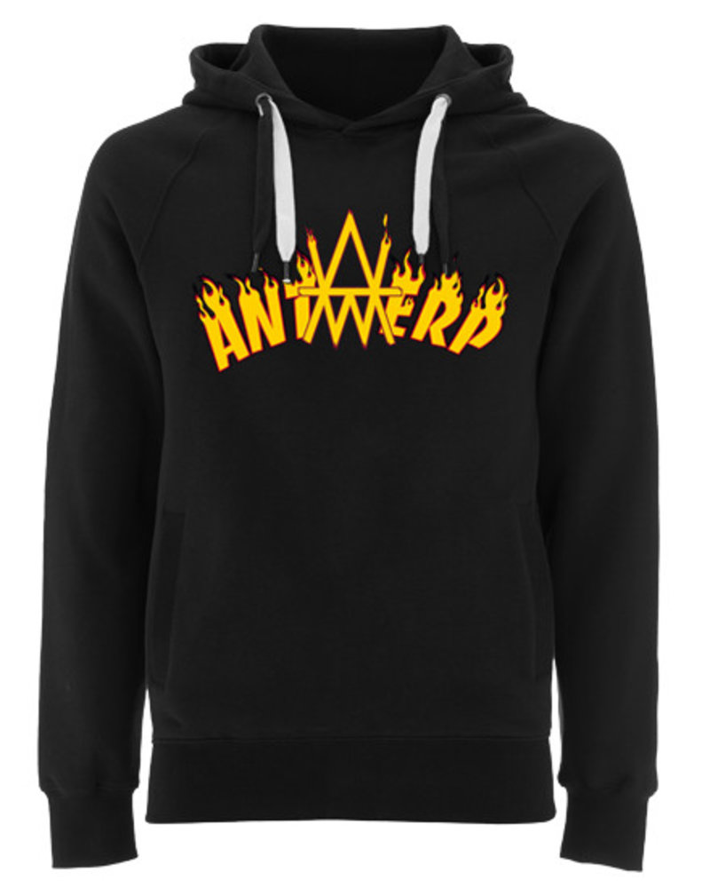 AW ANTWERP Hooded sweater - AW ANTWERP is burning