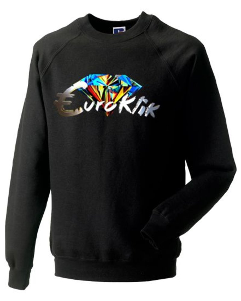 EUROKLIK Crewneck sweater Euroklik Color Diamond logo