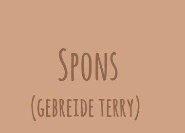 Spons (Gebreide terry)