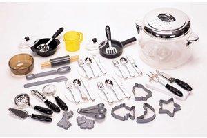 Winner Toys Kookpot + 2 pannen + maatbeker + bestek + borden