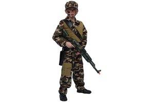 Kostuum soldaat met pet