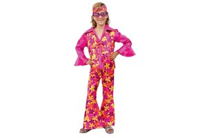 Kostuum Disco Roze
