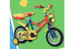 "Fiets 12"" Jumpertrek rood-geel-blauw"