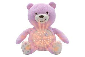 Chicco Baby knuffelbeer projector first dreams roze