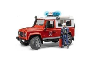 Bruder Land Rover Defender Brandweer met figuur