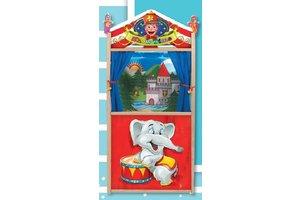 Houten poppenkast olifant - poppentheater olifant