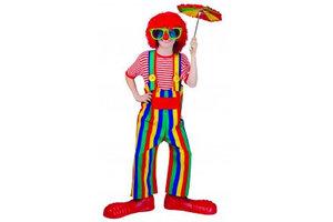 Kostuum Clown gestreept