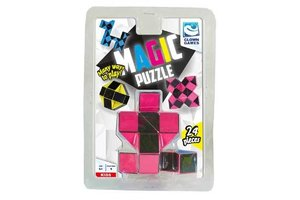 Clown Games Magic Puzzle 3D 24-delig roze