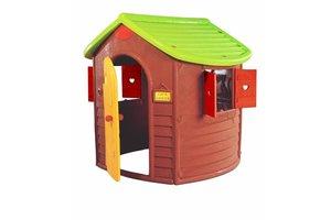 Smoby Speelhuis Jura Lodge bruin-groen