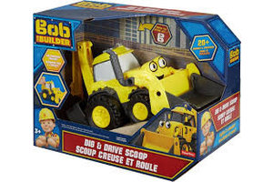 Mattel Bob de Bouwer - Graaf en rij Scoop bouwvoertuig
