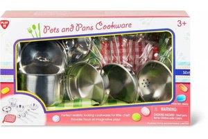 Playgo Inox potten en pannen