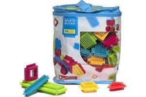 Seek'O Blocks - PVC zak (blauw) met 50 blokken