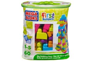 Mattel Mega Bloks - Grote zak van 60 blokken (groen)