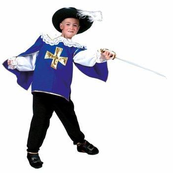 Kostuum Musketier - blauw
