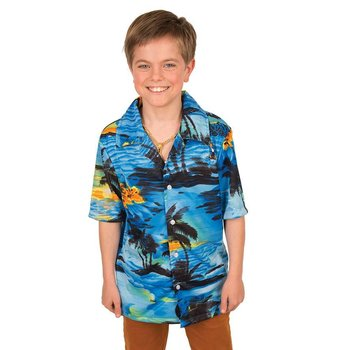 Hemd Hawai (blauw)
