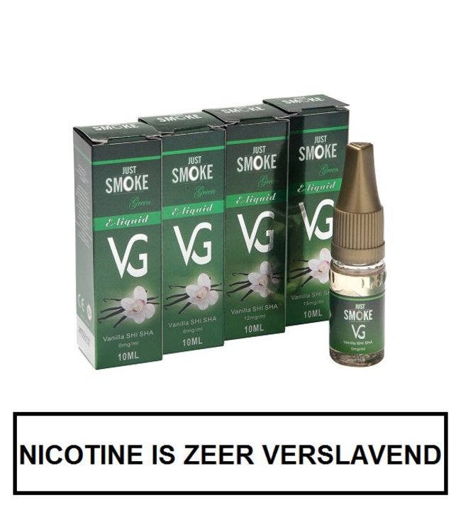 Just Smoke Green Vanilla E-liquid (95% VG)