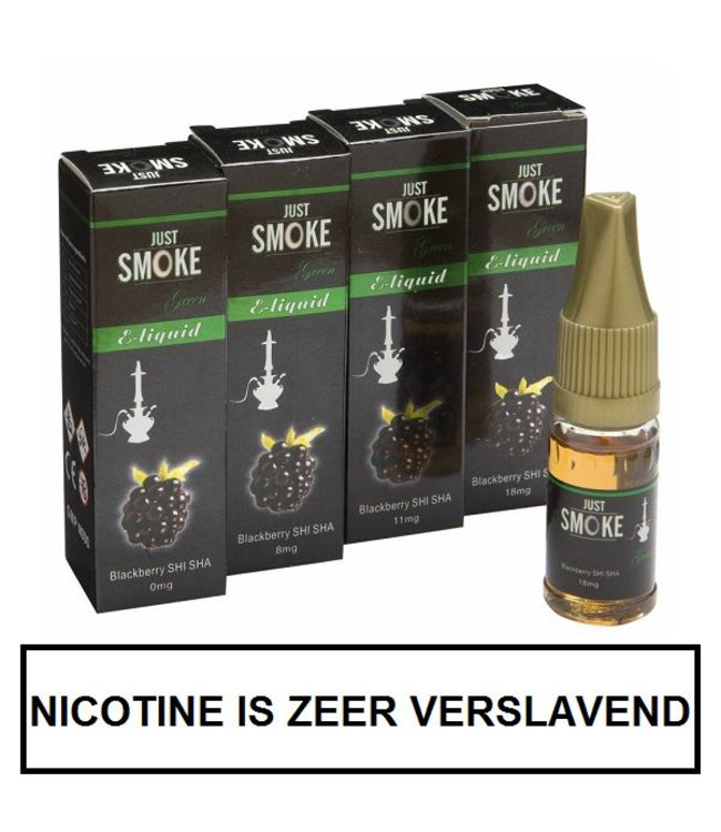 Just Smoke Green Blackberry Shisha E-liquid
