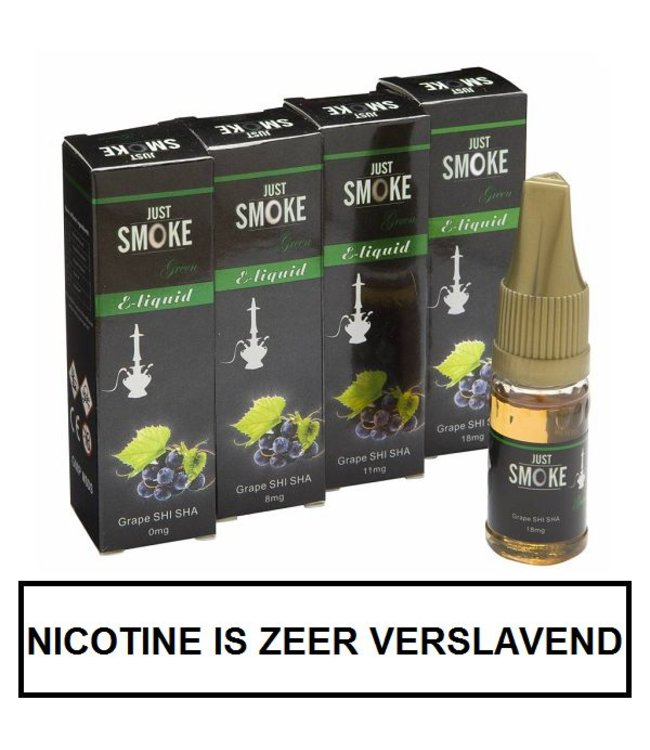 Just Smoke Green Grape Shisha E-liquid