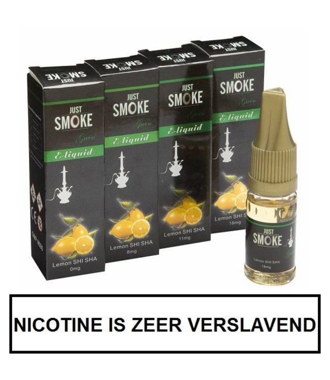 Just Smoke Green Lemon Shisha E-liquid