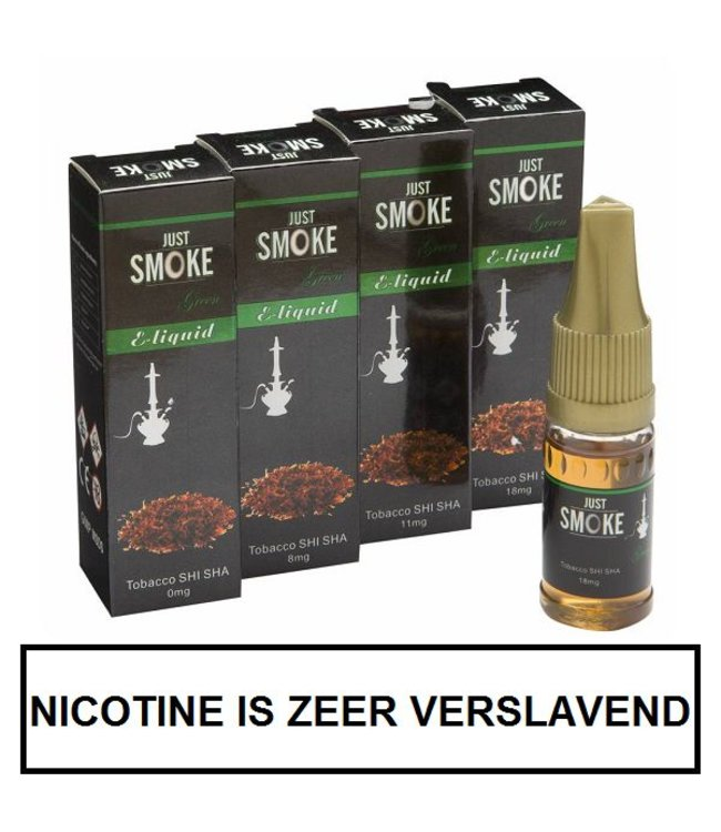 Just Smoke Green Tobacco Shisha E-liquid