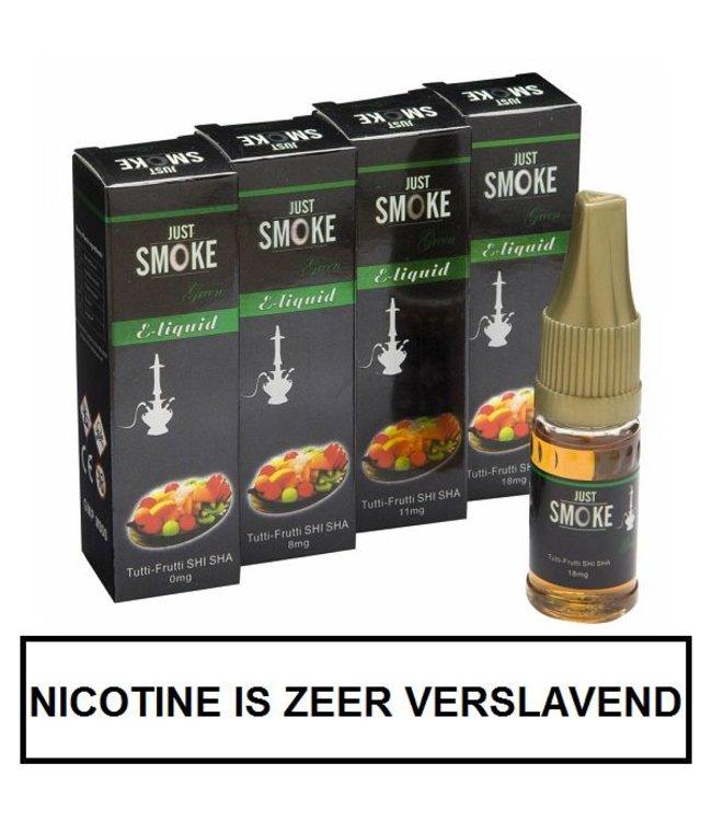 Just Smoke Green Tutti Frutti Shisha E-liquid